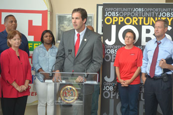 Maryland Delegate John Olszewski discussed how EARN Maryland encourages mobility for jobseekers through job readiness training